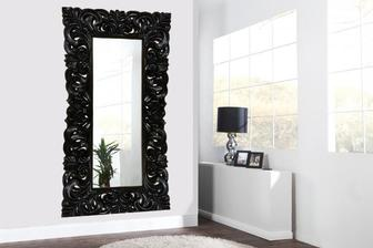 Barokové zrkadlo čierne L