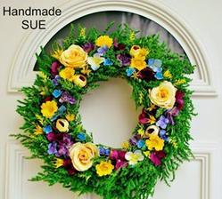 Jarný veniec na vchodové dvere