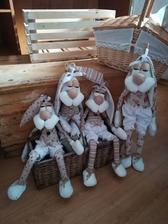 Dva 65cm zajace na veľkonočné sviatky