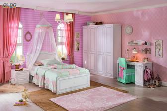 Skriňa do dievčenskej izby - 4dverová
