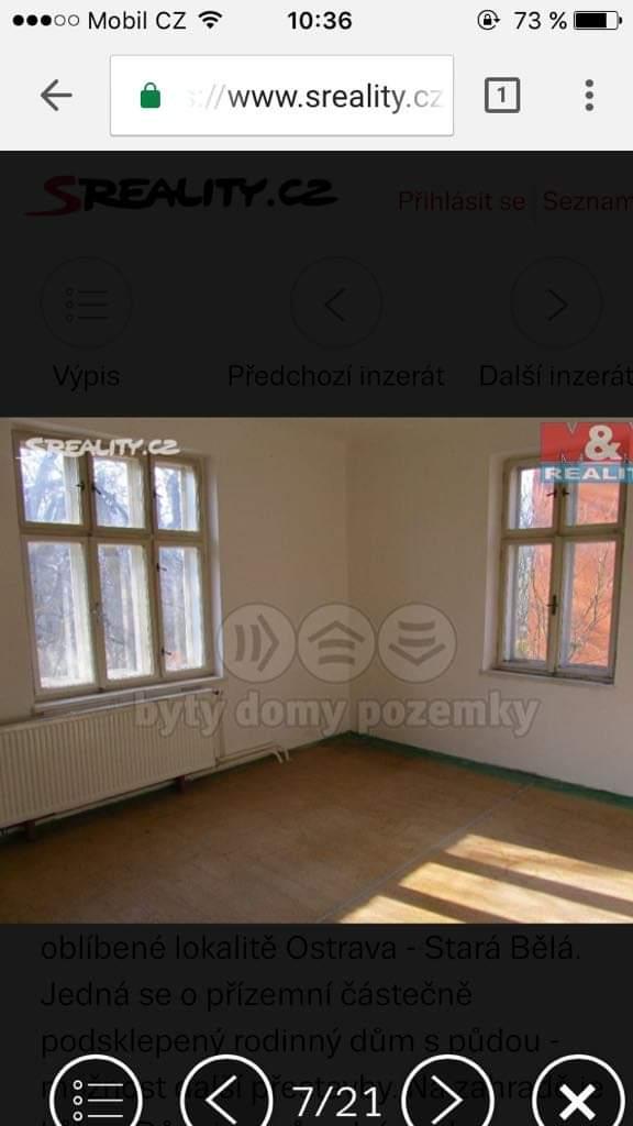 Náš boj - Fotka obývačky ešte od realitky, bohužiaľ som si neulozila viac fotiek