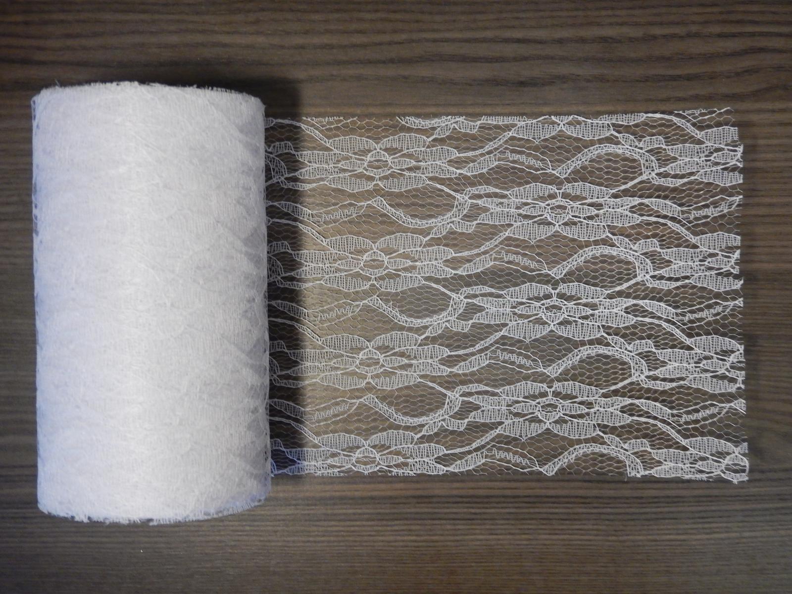 Biela cipka 15cm x 22m - Obrázok č. 1