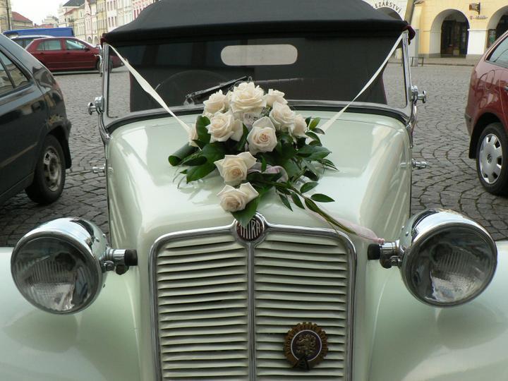 Výzdoba svatebních veteránů - inspirace - Obrázek č. 6