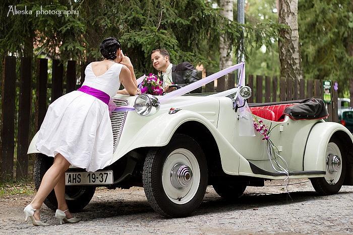 Svatební veteráni - Tatra 57 a Sport - foto: Alena Šreflová