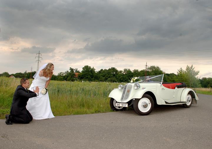 Svatební veteráni - Tatra 57 a Sport - Obrázek č. 311