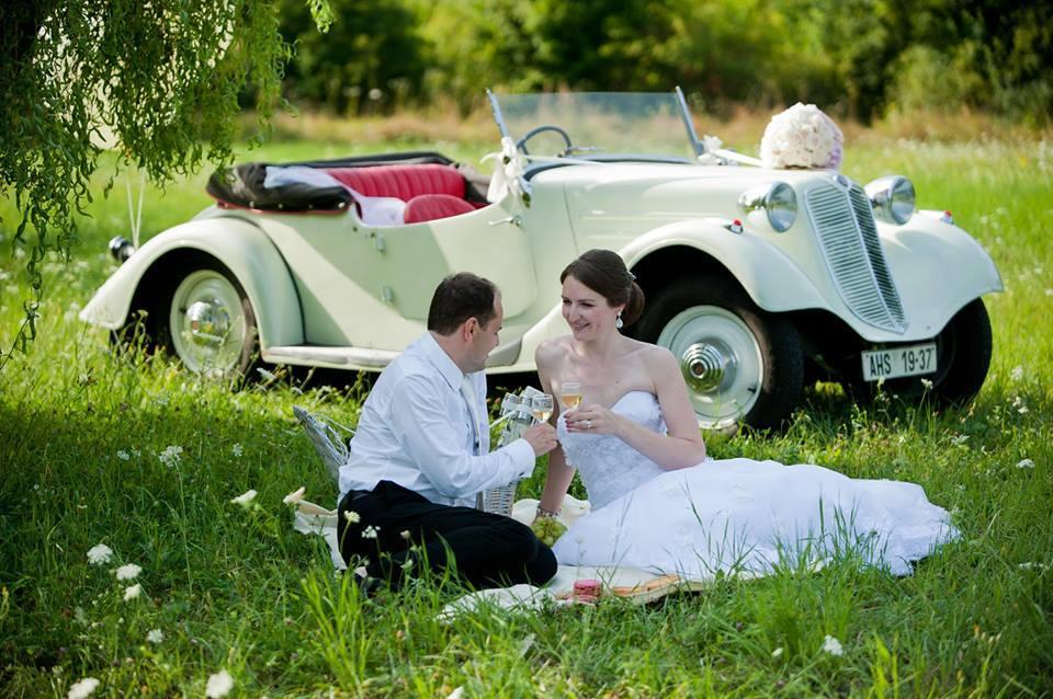 Veteránem na svatbu - Tatra 57a Sport
