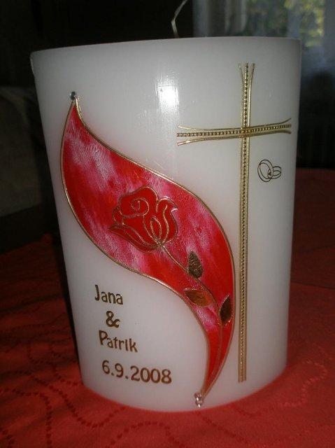 Janka a Patrik - sviečka do kostola,vyrobila ju premna jedna mila pani v Rakusku.Je naozaj krasna.