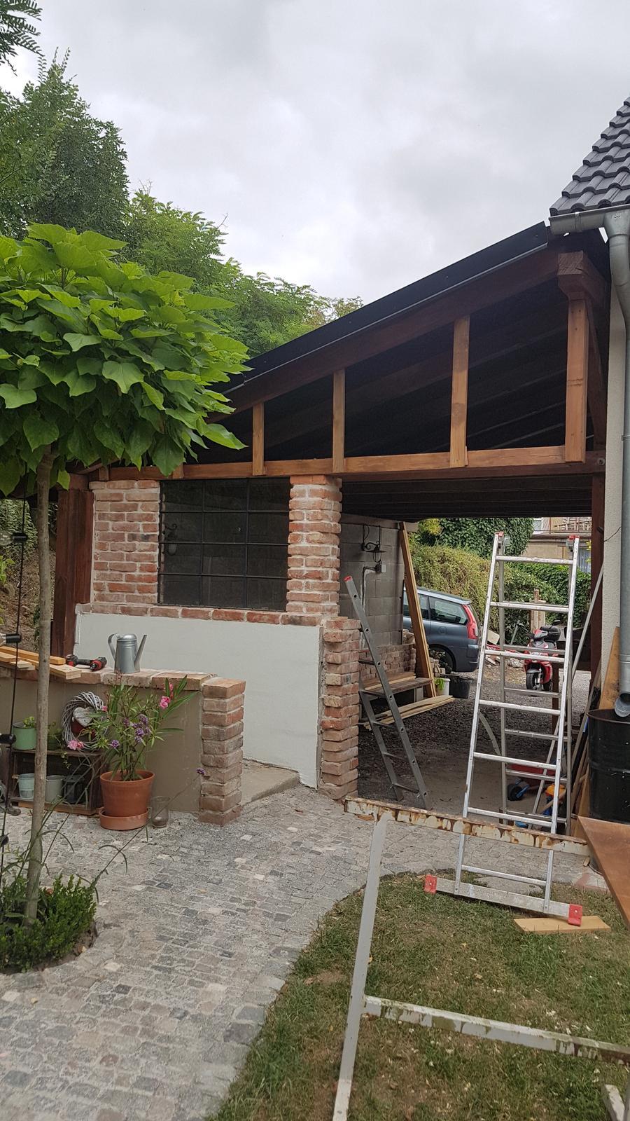 Garážové stánie - projekt r. 2017 - Konštrukcia hotová
