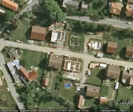 A tady letecký snímek z jara 2008