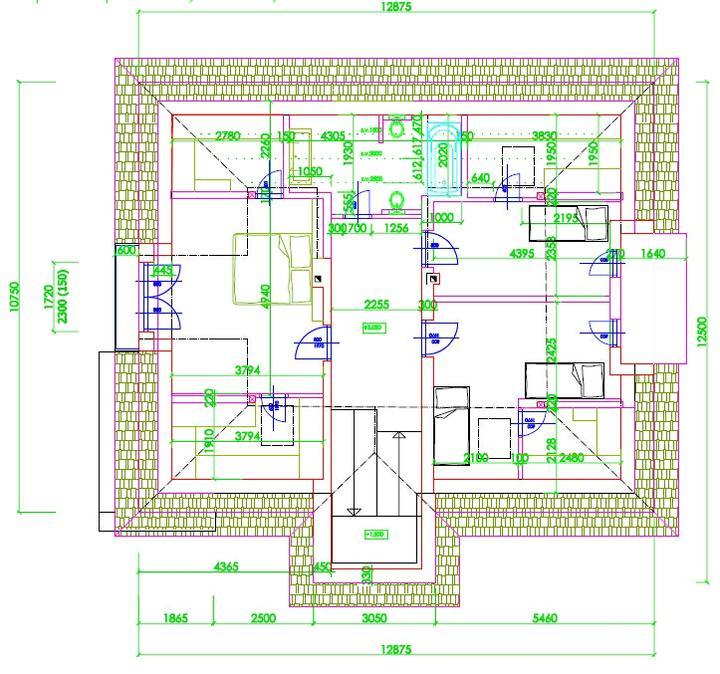 Kupene... - projekt podkrovia, tam nalavo by som chcel ale asi 2 izby ako su tie napravo