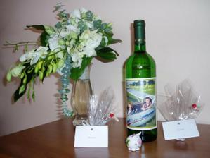 Vysluzkove vino a darceky s menovkami
