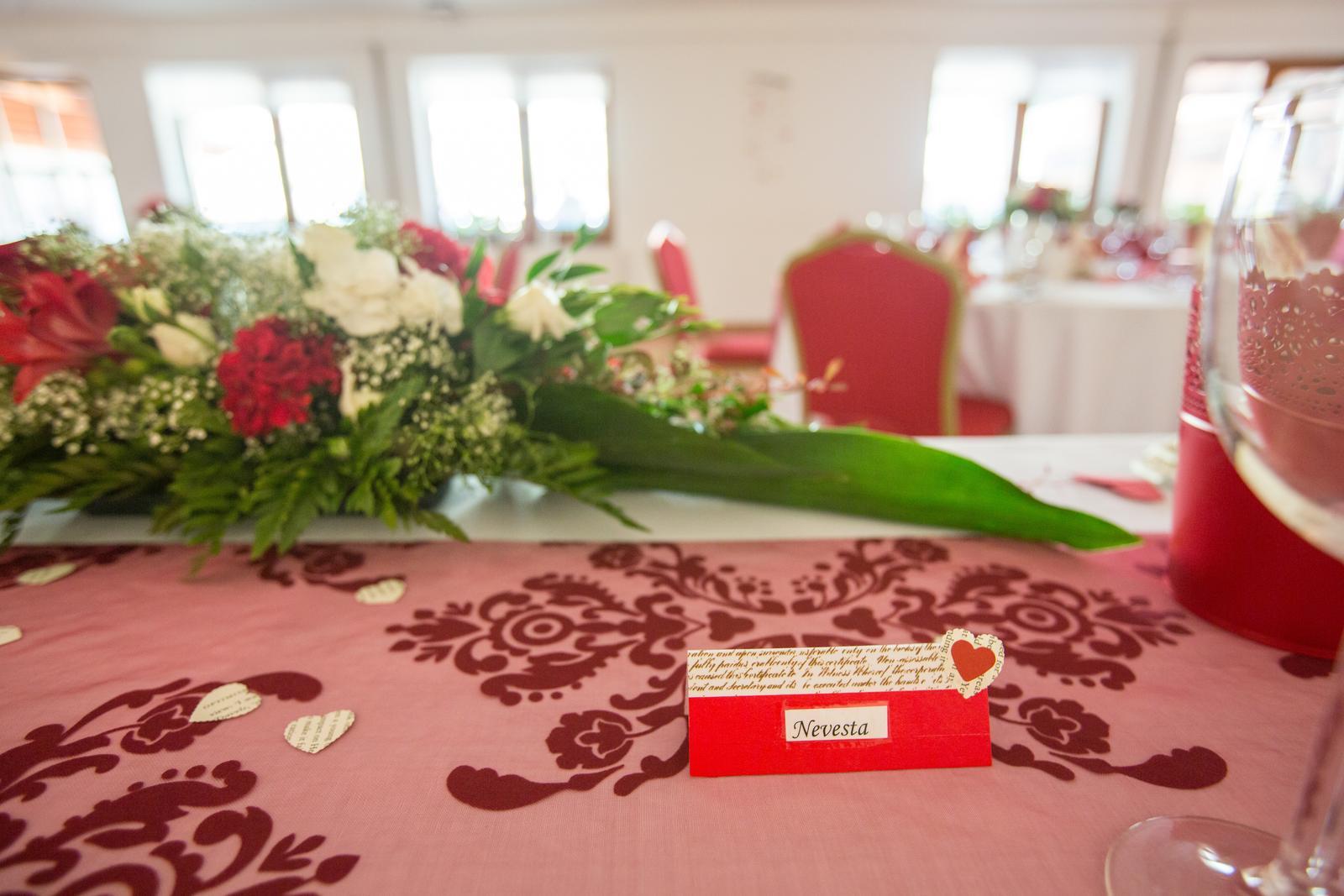 Janka{{_AND_}}Roman - knižná svadba - menovky a čísla stolov som vyrobila ja