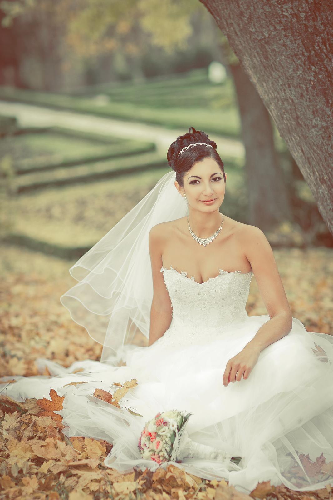 luxusné snehobiele svadobné šaty - Obrázok č. 1