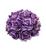 Svatební dekorace z růží s perličkami-fialová,