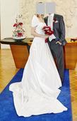 Korzetové svatební šaty, 40