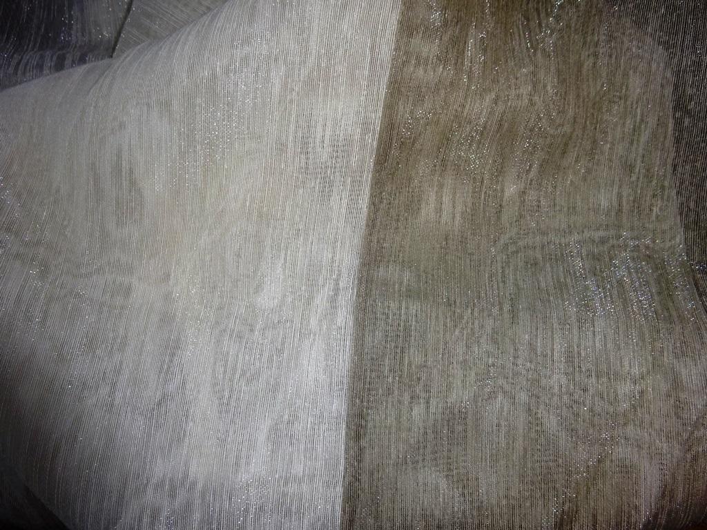 smetanová+šedohnědá leská lehká dekoračka 160x115  - Obrázek č. 1