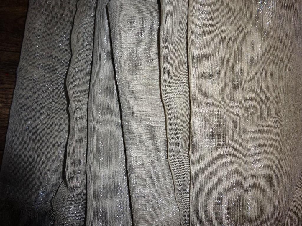 šedohnědá leská lehká dekoračka 50x600+55x450 cm - Obrázek č. 1