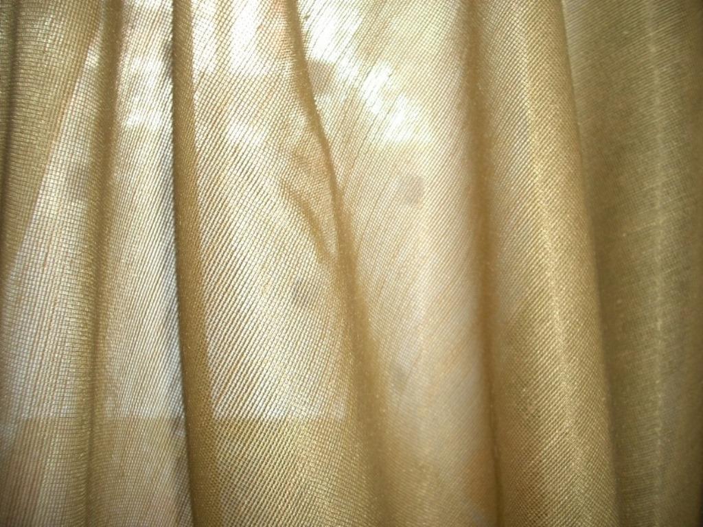 okrový organtýn netřepivý 152 cmx 246+246  - Obrázek č. 1