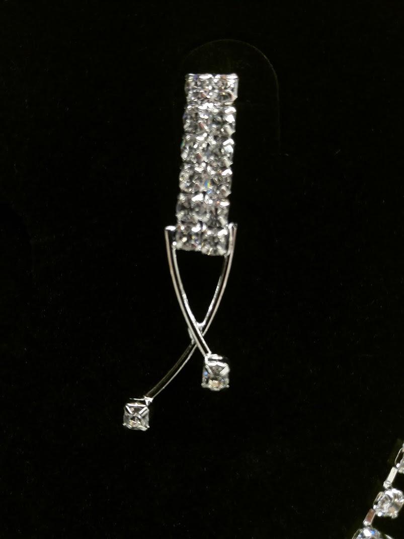 Štrasová souprava - náhrdelník a náušnice - Obrázek č. 2