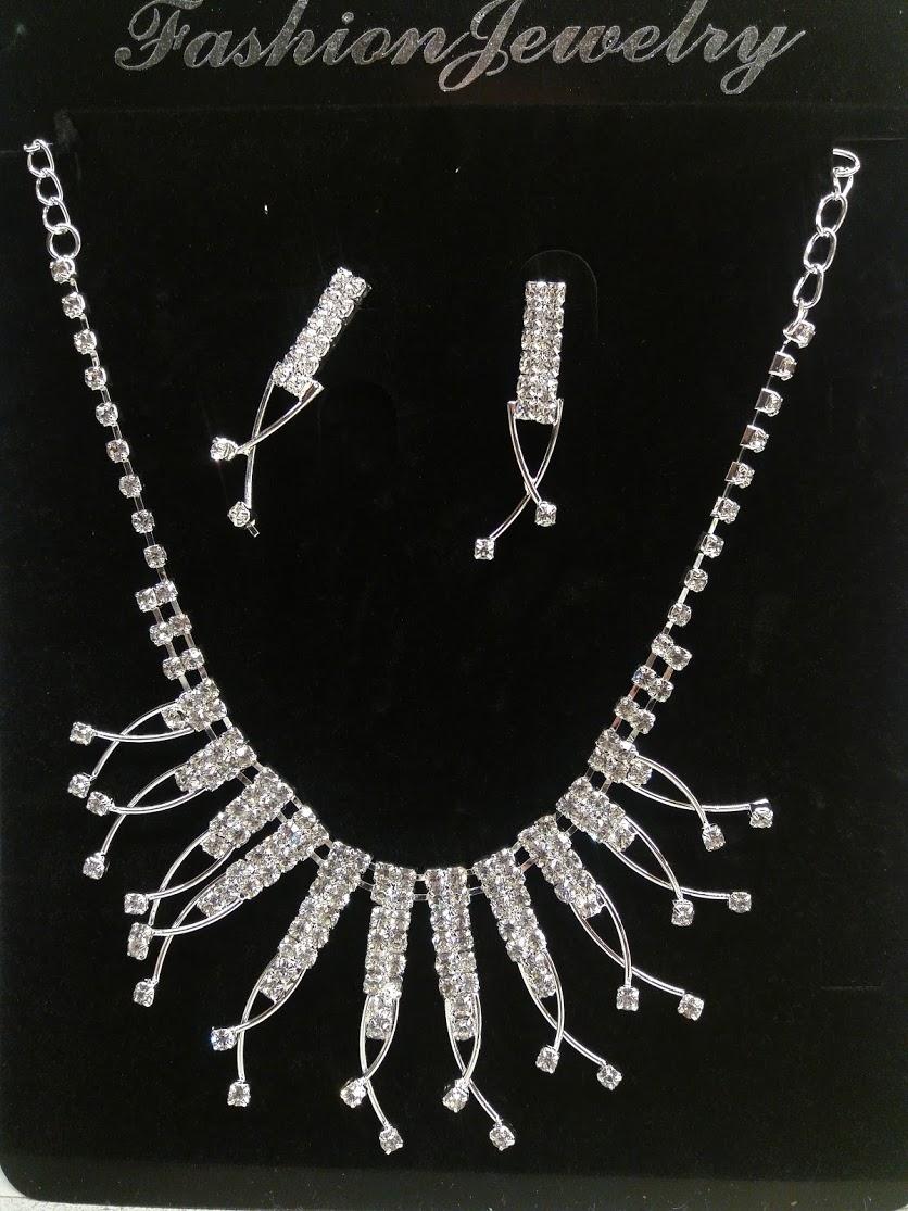 Štrasová souprava - náhrdelník a náušnice - Obrázek č. 1