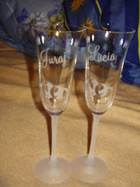Juraj & Lucia - naše poháre... už sú doma