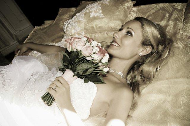 Umelecké foto zo svadby - a už som hore