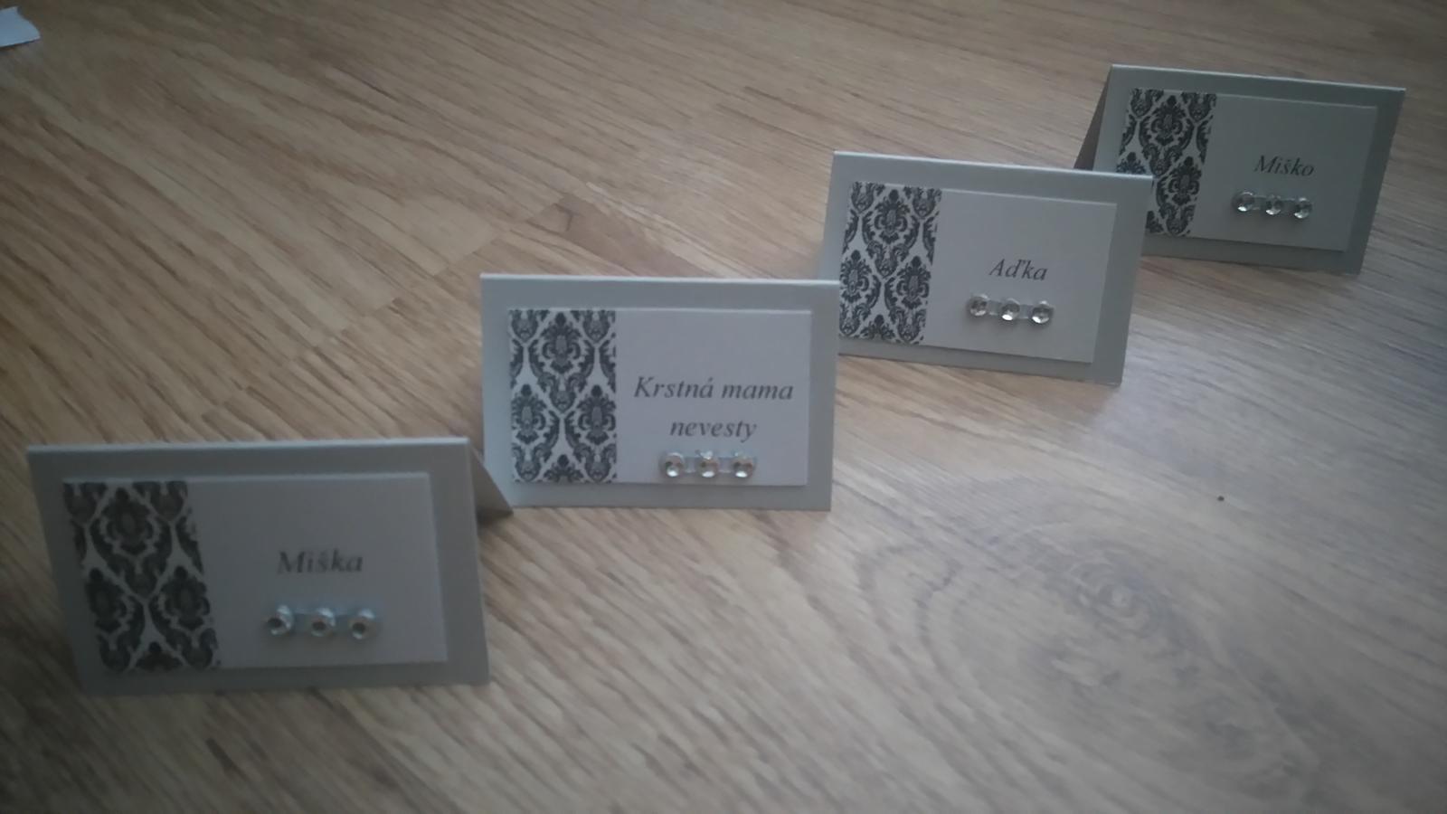 Bude svadba, svadbička :) - Takto budú vyzerať menovky na stoly...môžem sa hrať :-)