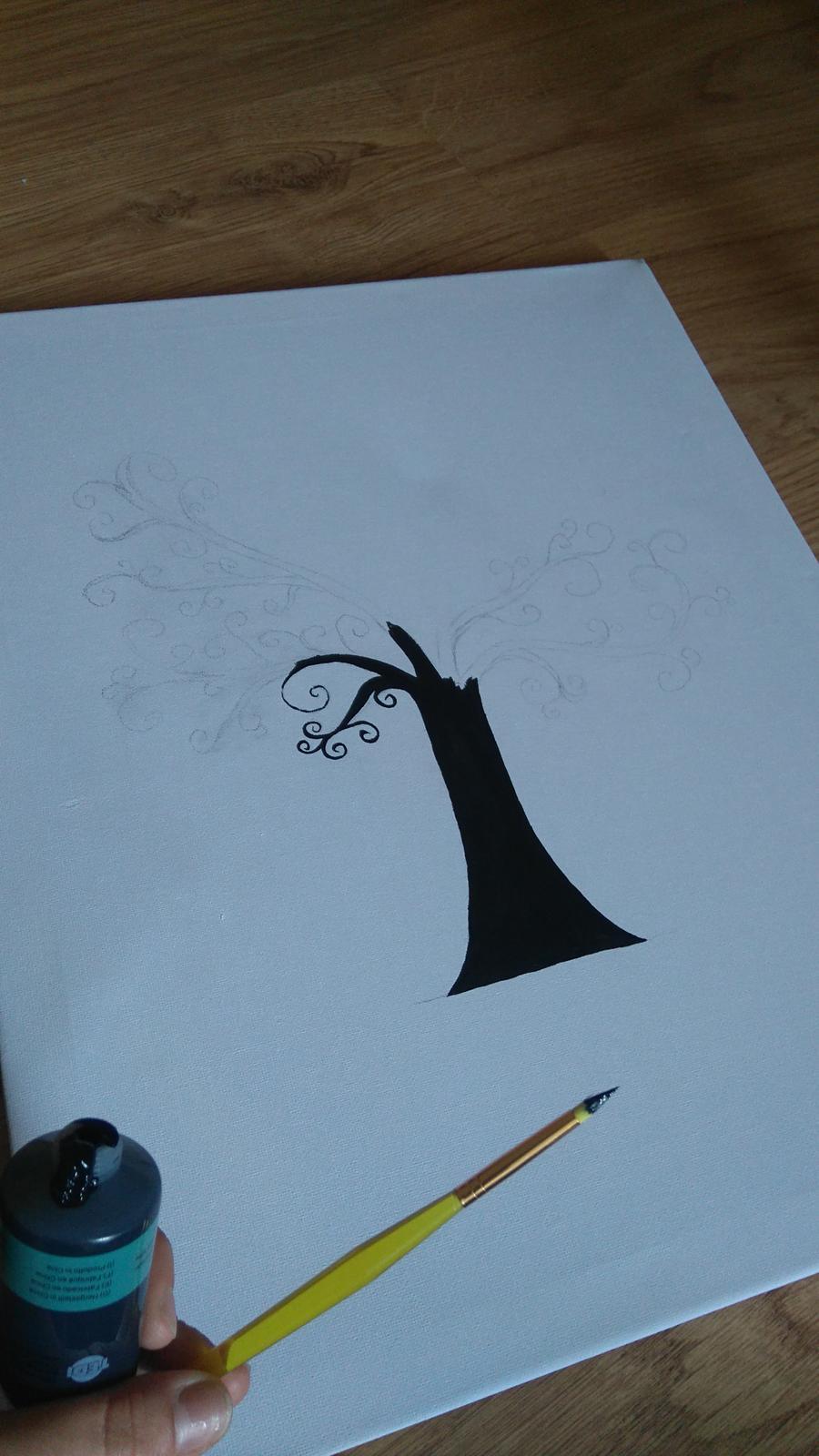 Bude svadba, svadbička :) - malujem svadobny strom ...držte palce