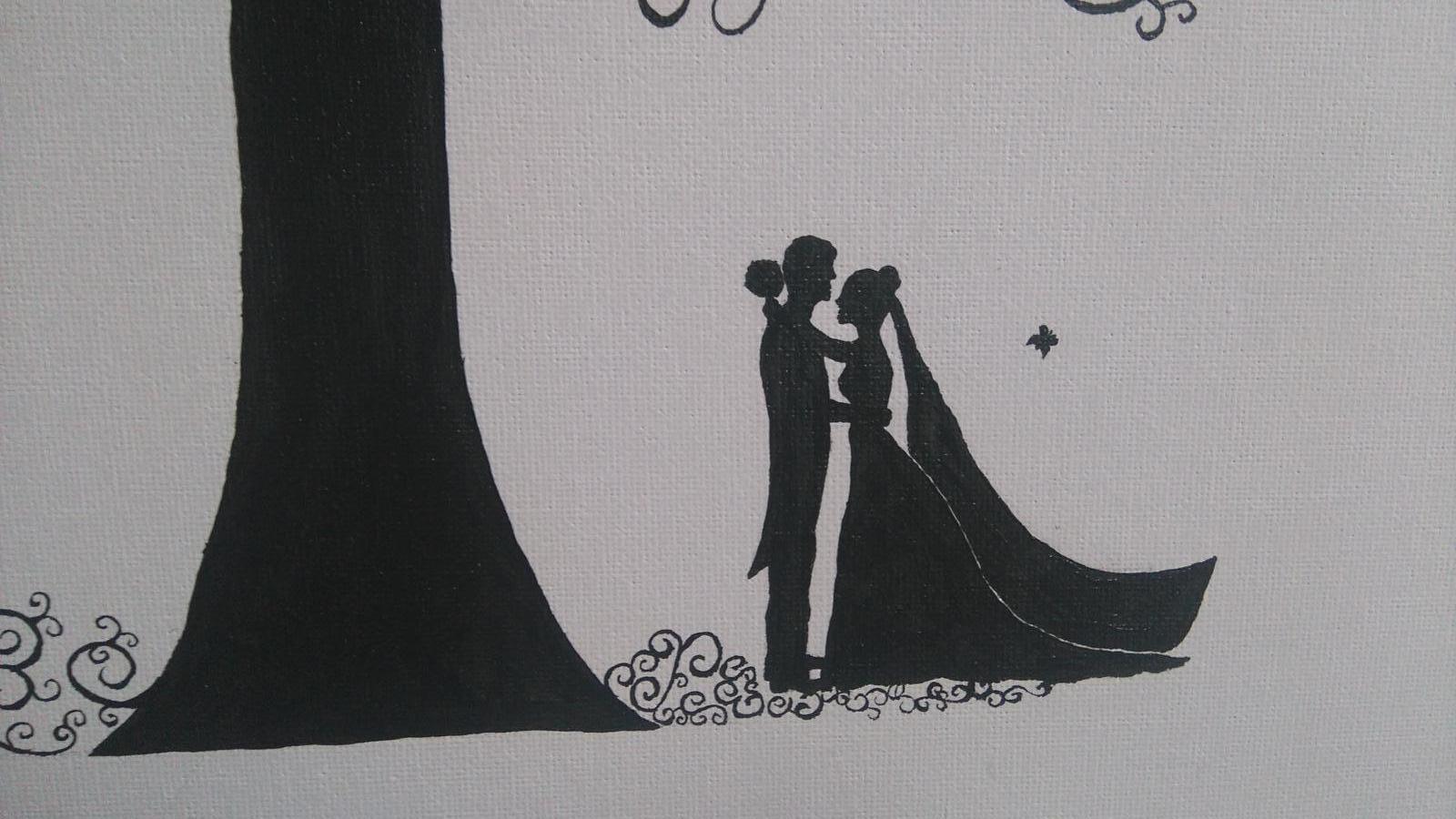 Bude svadba, svadbička :) - detail svadobného stromu
