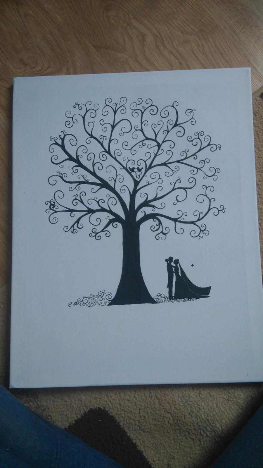 Bude svadba, svadbička :) - Náš svadobný strom práve dokončený