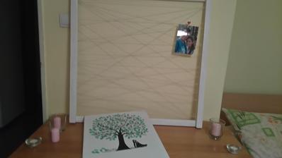 Vyrabala som ramik na fotky :-D bude na stole so svadobnym stromov, svieckami, flaskami na odkazy :)