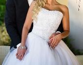 Princeznovské trblietavé svadobné šaty, 34