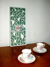 Nástěnná mozaika Zelený čaj