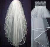 Svatební závoj ivory 03,