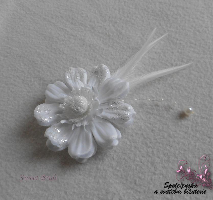 Květina do vlasů Sweet Bride 16-SKLADEM - Obrázok č. 1