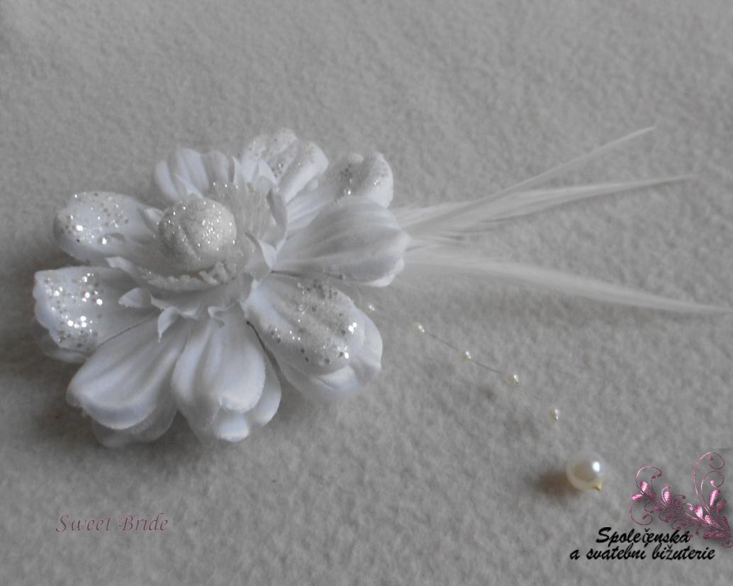 Květina do vlasů Sweet Bride 16-SKLADEM - Obrázok č. 2