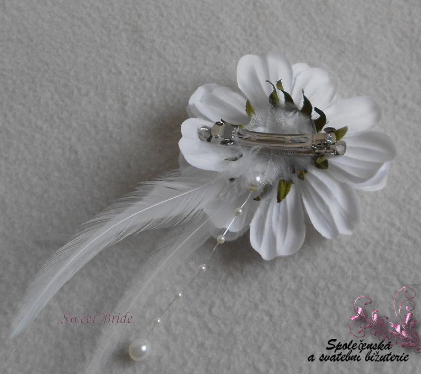 Květina do vlasů Sweet Bride 16-SKLADEM - Obrázok č. 3