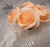 Květinový svatební hřebínek 79-SKLADEM,