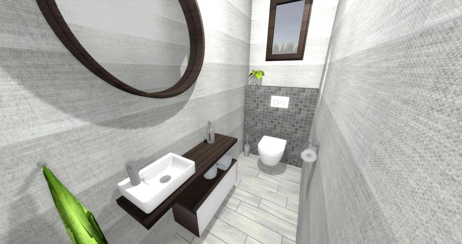 Návrh kúpeľne + WC - Obrázok č. 1