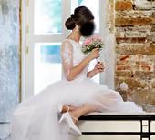 Originálne svadobné šaty veľkosť 36, 36
