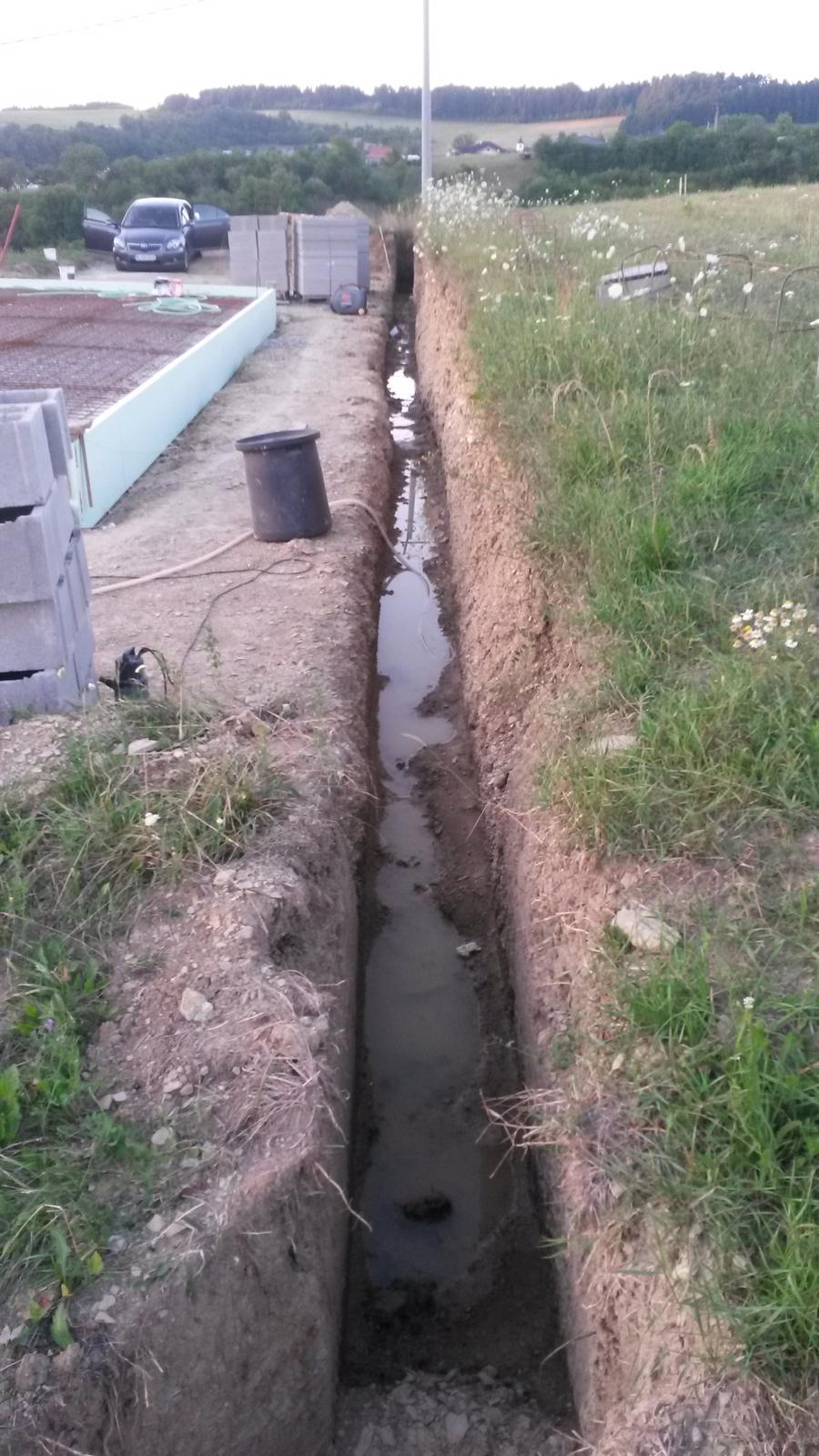 Dom - il nepustil... 3 tyzdne tam stala voda tak som to musel kyblom a rylom vycistit...