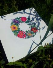 Dovolenkové maľovanie ihlou na plátne 🌾