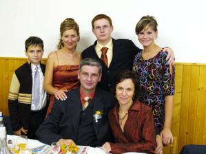Bratranec Róbert s rodinkou
