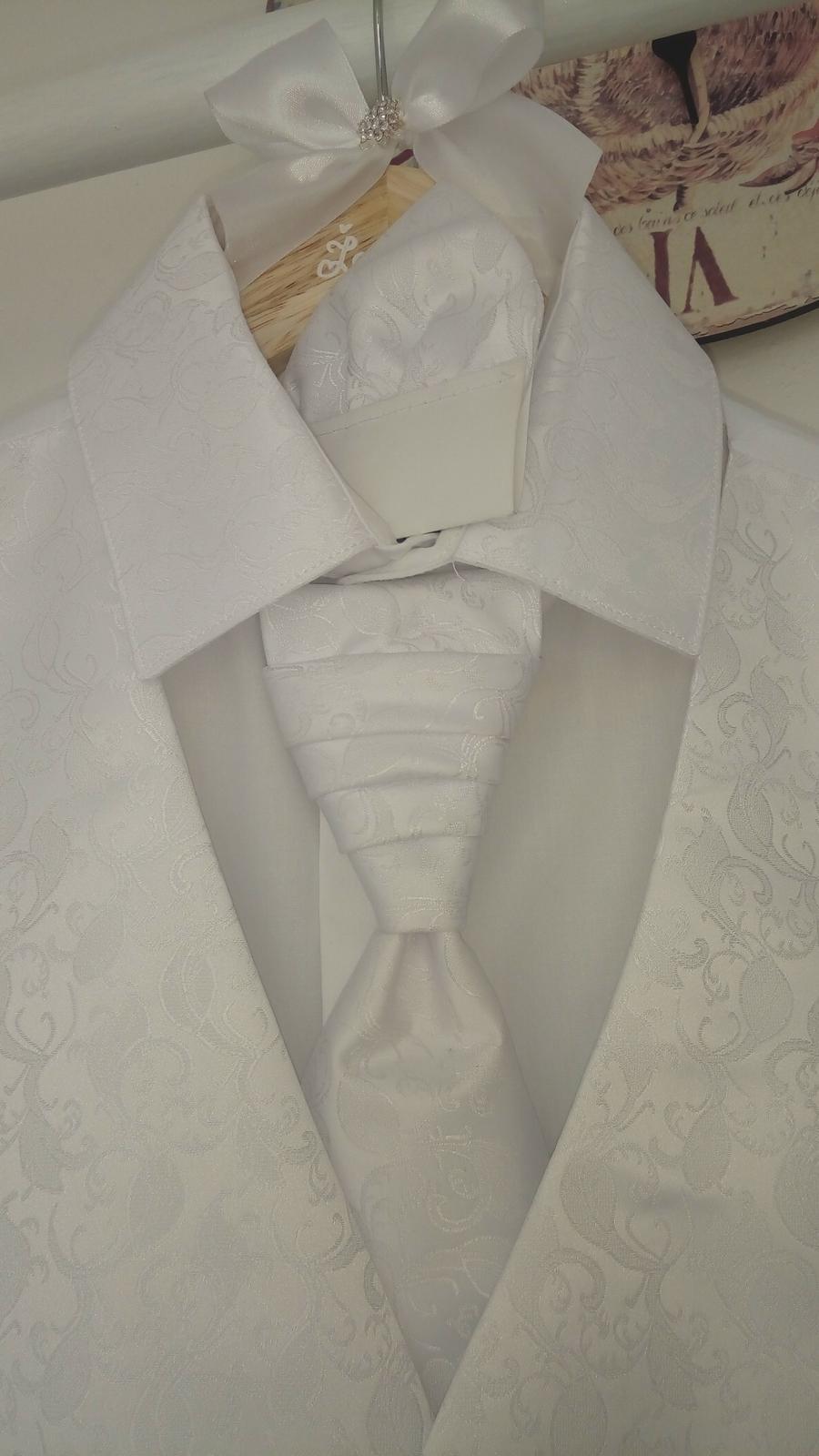 Svadobná košeľa, vestička s vreckovkou značky ADAM - Obrázok č. 4