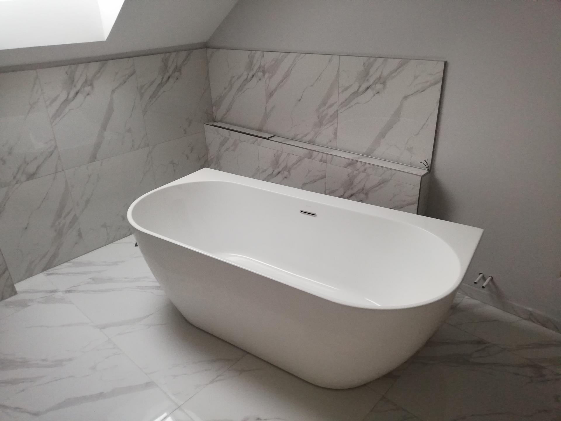 Koupelna těsně před dokončenim