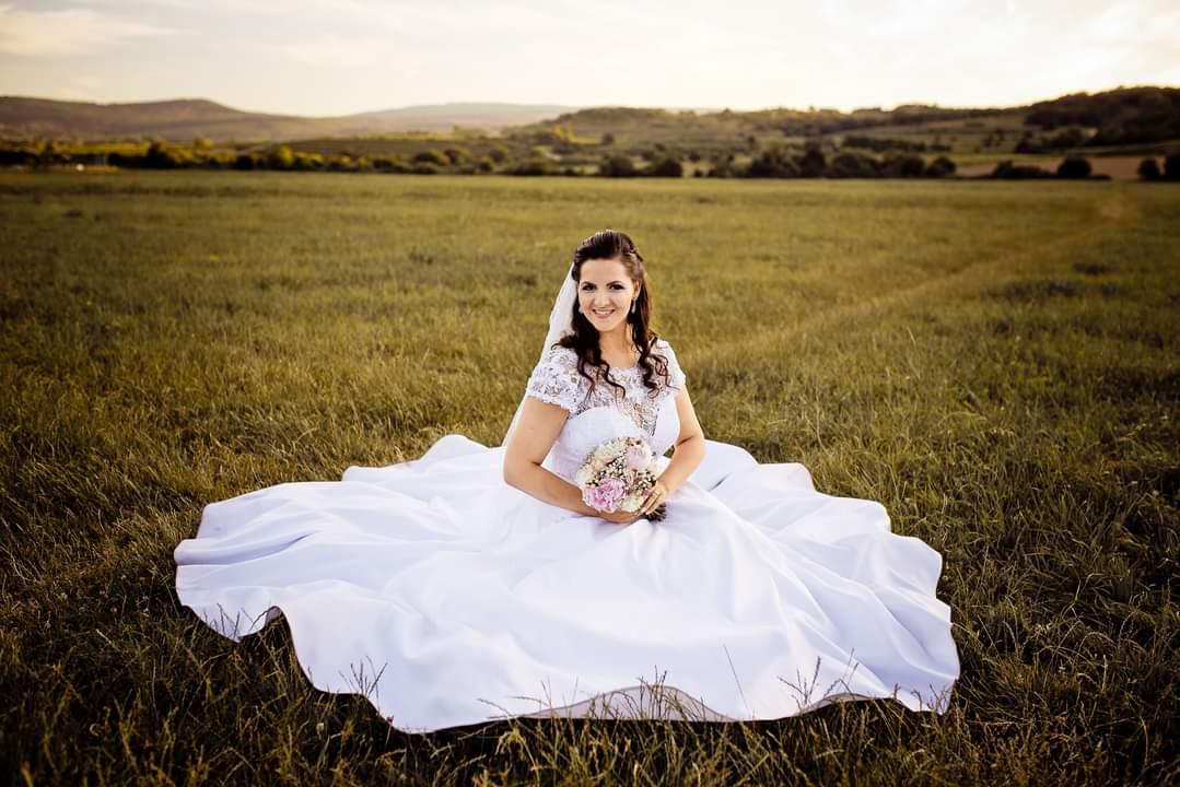 Krasne svadobne saty velkost 42-46 - Obrázok č. 4