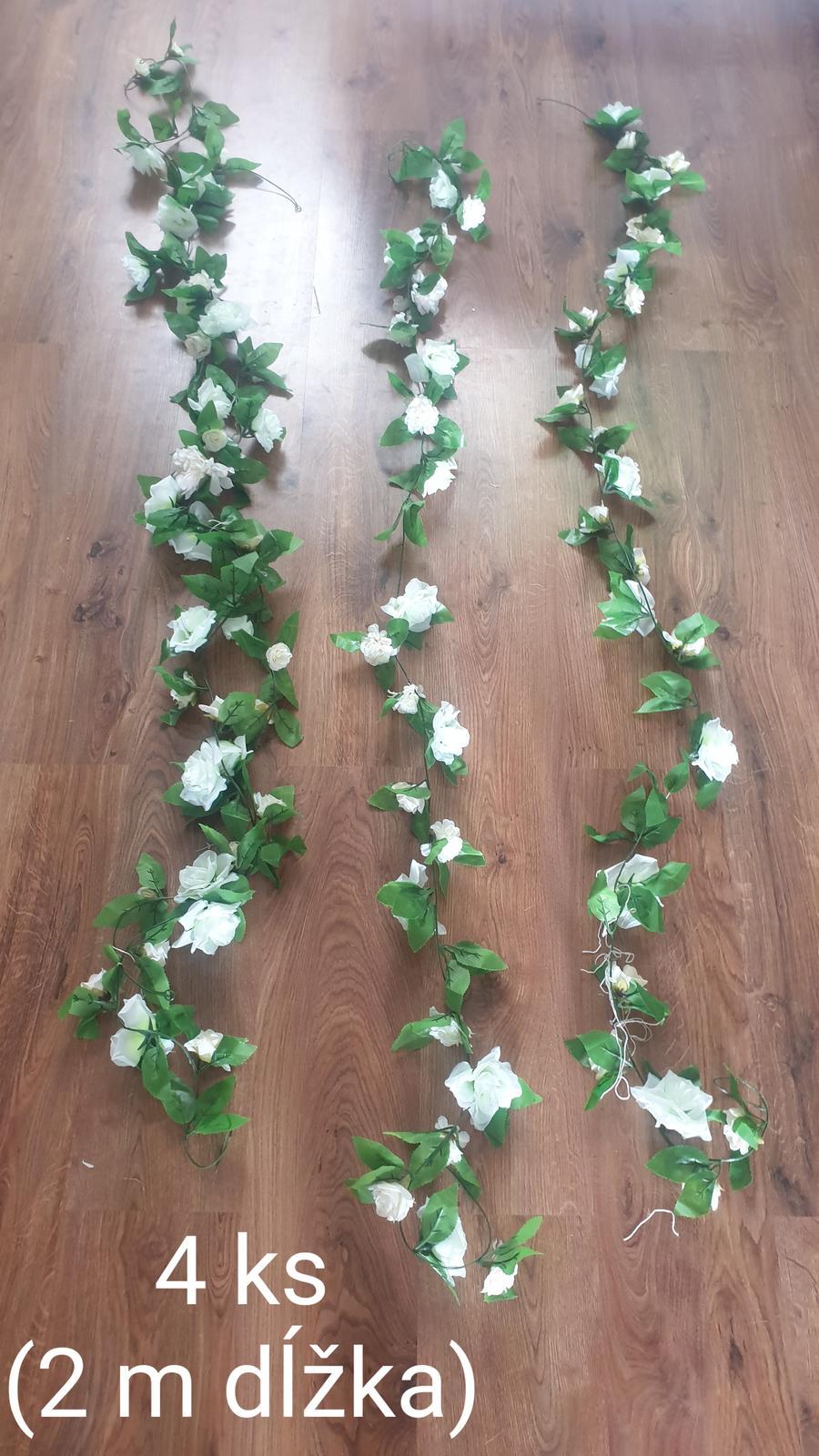 Umelé kvety / girlandy - Obrázok č. 1