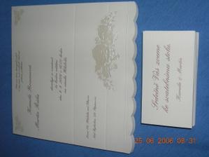 svatební oznámení + pozvánka ke stolu