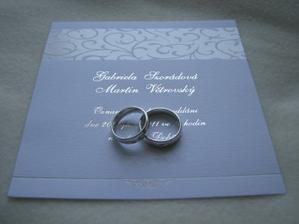 Naše oznámení a prsteny
