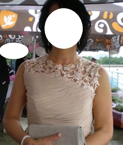 Dlhé spoločenské šaty vo farbe champagne - Obrázok č. 2